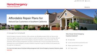 Screenshot of Repairplanssocal.com main page