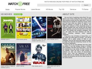Screenshot of Freestreamingmovies.cc main page