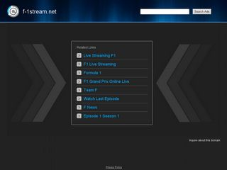 Screenshot of F-1stream.net main page