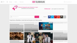Screenshot of Vertelenovelas.net main page