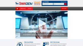 Screenshot of Sinavdem.com main page