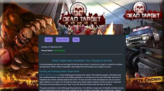Screenshot of Deadtargethack.net main page