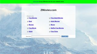 Screenshot of Zmovies.com main page