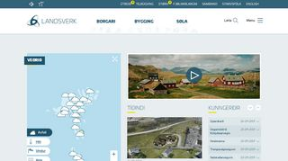Screenshot of Landsverk.fo main page