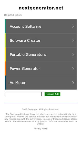 Mobile screenshot of Nextgenerator.net
